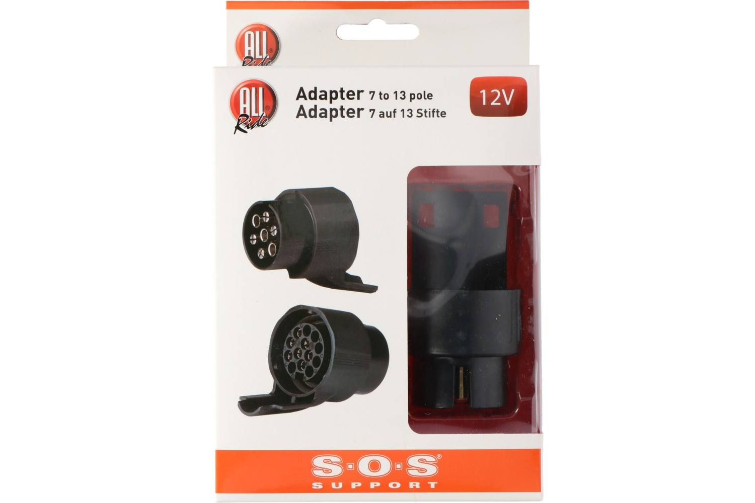 Adapter, AllRide SOS support, 7/13 P, 12V 2